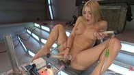 QUAD ANAL: 4 DICKS, 1 HOLE - Amy Brooke Stretches Her Ass With The Machines