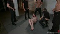 Brand New Girl Gets Tied up, Gangbanged, and Dp'ed all for the FIRST TIME EVER!