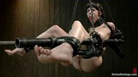 Sexy Asphyxia Learns the Meaning of Her Name in Brutal Pipe Bondage