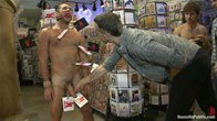 Mike de Marko is bound and beaten by the horny public