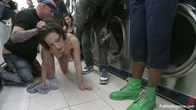 Nikita Belluci is bound and degraded in public!