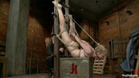 Tracey spends a day with painful and challenging ladder bondage!