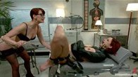 Virgin pre med student gets lesbian ass fucked and punished into medical university!