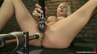 Hot McHottie Blonde Power Fucked to cum space by FIVE CUSTOM MACHINES