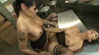 Footsie turns to fuckin Ts Foxxy unleashes her cock on Berettas pussy