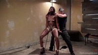 Athletic beauty Ana Foxxx submits to Slave Training
