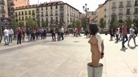 Chiara Diletto disgraced ENTIRELY OUTDOORS in Madrid!