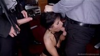 Office Bitch Begs for Hard Corporate Gangbang Fuck Fest!