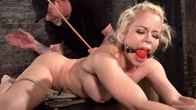 Nikki Delano in Brutal Bondage with Torment and Screaming Orgasms!