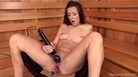 Cassidy Klein - Machine Fucked in the Sauna!