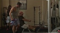 Workout Studs Run a Train on Connor Maguires Gym Slave