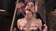 Cute Blonde Latina Gets Abused in Strict Bondage