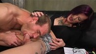 TS movie director works over her actor with her HUGE HARD COCK!