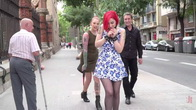 Petite Natural Whore Shamed in Public and Gang Fucked in Rope Bondage!