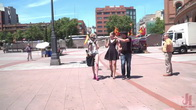 Petite Whore Molly Saint Rose Fucked and Humiliated in Public Plaza!