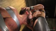 Hairy tape-slave worships Master Kadens uncut cock
