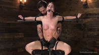 Petite Slut Serena Blair Punished and Made to Cum in Metal Bondage!