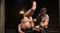 Submissive Stud Andy Jack Bound in Rope and Fucked in Ass!