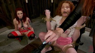 Young New Slave Brutally Inducted Into The Redhead Lesbian Dungeon