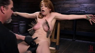 Red Headed Slut is Bound, Tormented, Double Penetrated and Made to Cum