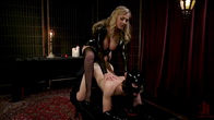 Latex Goddess Julia Ann Dominates Dripping Cock Whore