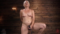 Sexy Blonde Cougar Gets Machine Fucked