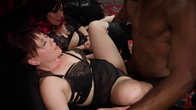 Drooling Electro Slut and The Anal Whore Serve a BDSM Orgy