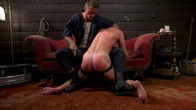 Captive slave Alex Hawk submits to Daddy Dane Stewart