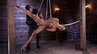 Brand New Ebony Slut Demi Sutra Gets Tied and Tormented