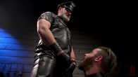 ASH PIGS: Cigar Smoking Leather Daddy Breaks in His Hairy Muscle Slave