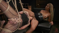 Open Up for Lotus: Sex Starved Cougar Pounces for Kinky Lesbian Sex