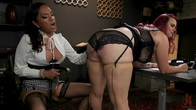 The Office Slave: Jessica Fox Fucks Bella Rossi in Every Hole