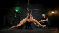 Kinky Viktor: New Sub Bound, Roped, Edged and Shoots A Fat Load