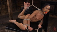 Kira Noir: Hard Bodied Goth Slut in Extreme Bondage and Tormented